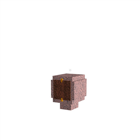 Columbariums - 1 Cases - ARENA A01-50N1 - Rose de la clarté - Sansone Municipalités