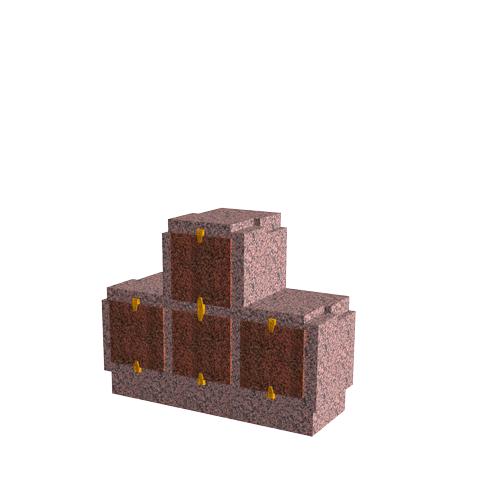 Columbariums - 4 Cases - Cheops C04P - Rose de la clarté - Sansone Municipalités