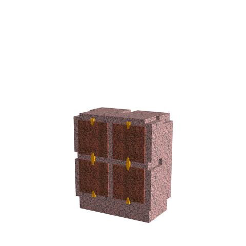 Columbariums - 4 Cases - Cheops C04V - Rose de la clarté - Sansone Municipalités