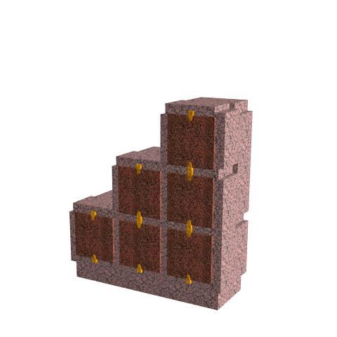 Columbariums - 6 Cases - Cheops C06p - Rose de la clarté - Sansone Municipalités