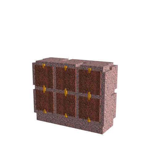 Columbariums - 6 Cases - Cheops C06h - Rose de la clarté - Sansone Municipalités