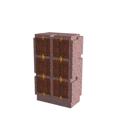 Columbariums - 6 Cases - Cheops C06V - Rose de la clarté - Sansone Municipalités