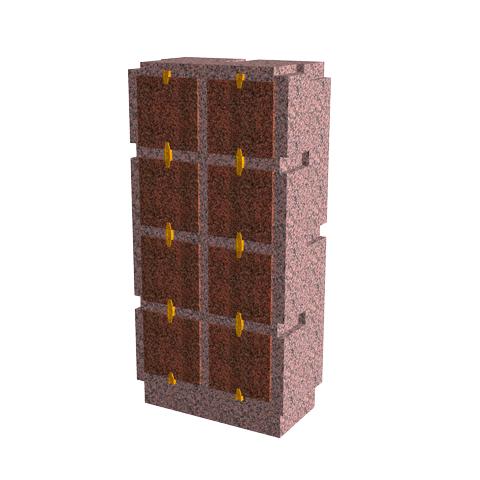 Columbariums - 8 Cases - Cheops C08V - Rose de la clarté - Sansone Municipalités