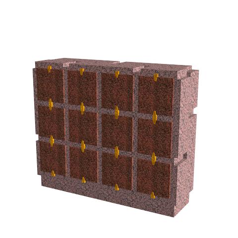 Columbariums - 12 Cases - Cheops C12V - Rose de la clarté - Sansone Municipalités