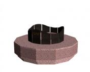 Columbariums - 12 Cases - Dune 1 niveaux- Rose de la clarté/Noir - Sansone Municipalités