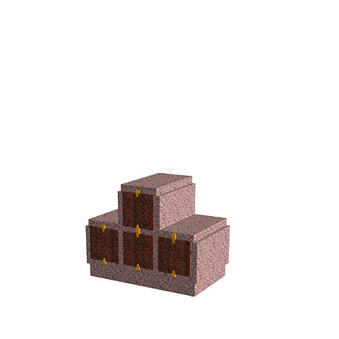 Columbariums - 4 Cases - HARMONIE H04P-80 - Rose de la clarté - Sansone Municipalités