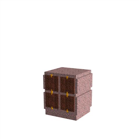 Columbariums - 4 Cases - HARMONIE H04V-80 - Rose de la clarté - Sansone Municipalités