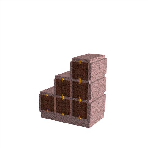 Columbariums - 6 Cases - HARMONIE H06DPD-80 - Rose de la clarté - Sansone Municipalités