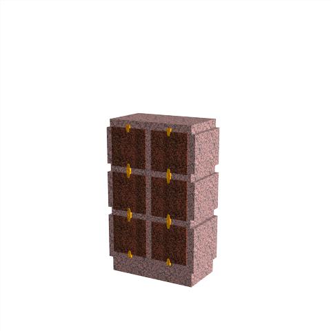 Columbariums - 6 Cases - HARMONIE H06V-50 - Rose de la clarté - Sansone Municipalités