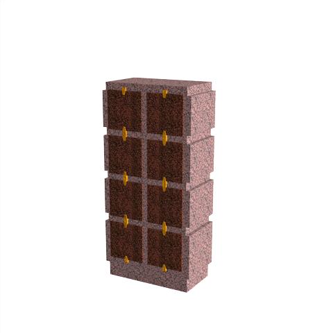 Columbariums - 8 Cases - HARMONIE H08V-50 - Rose de la clarté - Sansone Municipalités