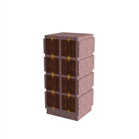 Columbariums - 8 Cases - HARMONIE H08V-80 - Rose de la clarté - Sansone Municipalités