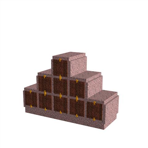 Columbariums - 9 Cases - HARMONIE H09P-80 - Rose de la clarté - Sansone Municipalités