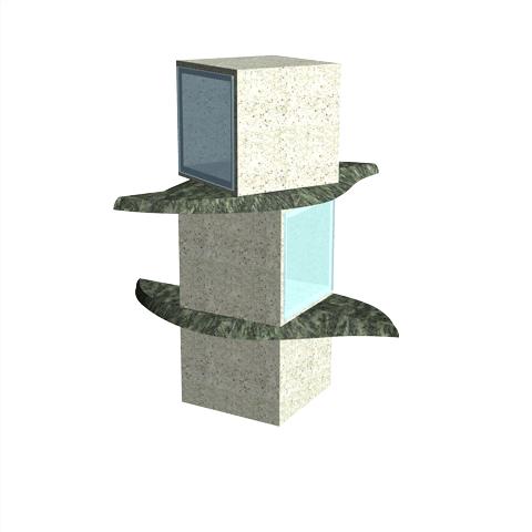 Columbariums - 2 Cases - Krystal KFN2V - Sansone Municipalités