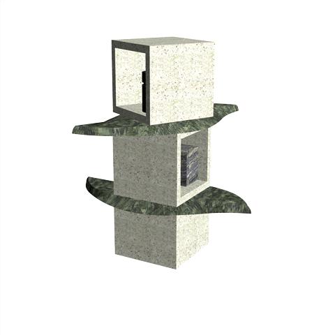 Columbariums - 2 Cases - Krystal KFN2 - Sansone Municipalités