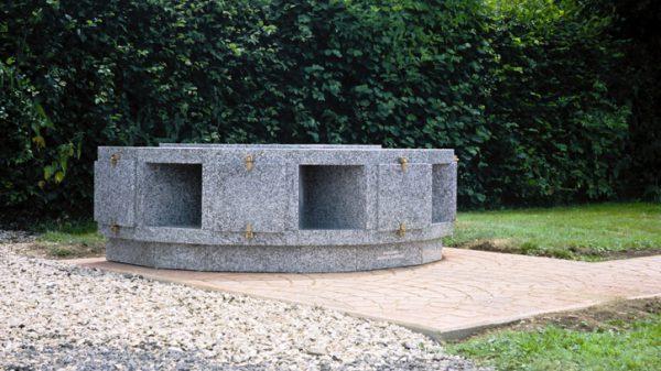 Columbarium - Modéle ARENA CIRCULAIRE 1 NIVEAU TARN - Réalisations SANSONE MUNICIPALITES