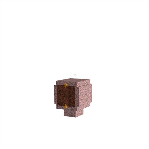 Columbariums - 1 Cases - ARENA A01-50N1 - Rose de la clarté - Sansone Collectivités