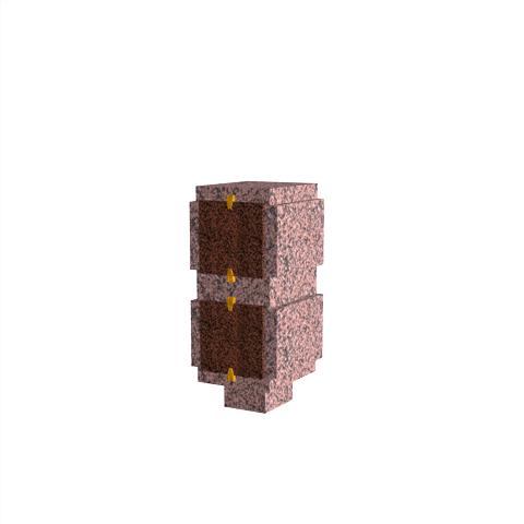 Columbariums - 2 Cases - ARENA A01-50N2 - Rose de la clarté - Sansone Collectivités