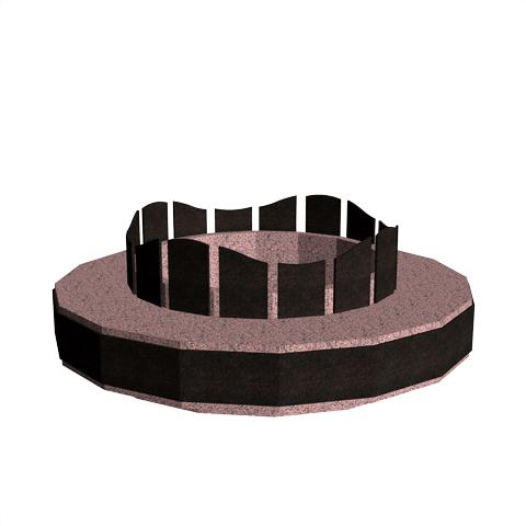 Columbariums - 16 Cases - Dune- Rose de la clarté/Noir - Sansone Collectivités