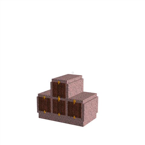 Columbariums - 4 Cases - HARMONIE H04P-80 - Rose de la clarté - Sansone Collectivités
