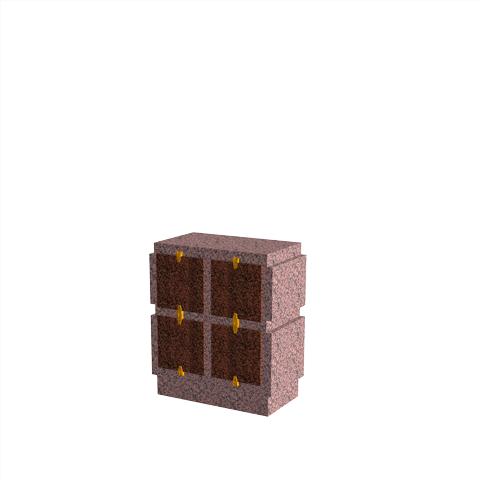 Columbariums - 4 Cases - HARMONIE H04V-50 - Rose de la clarté - Sansone Collectivités