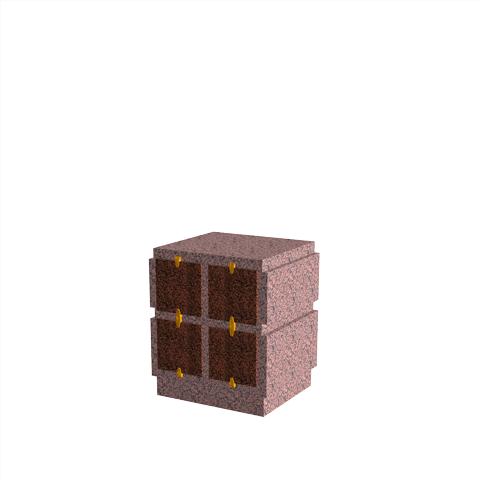 Columbariums - 4 Cases - HARMONIE H04V-80 - Rose de la clarté - Sansone Collectivités