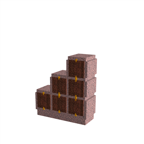 Columbariums - 6 Cases - HARMONIE H06DPD-50 - Rose de la clarté - Sansone Collectivités