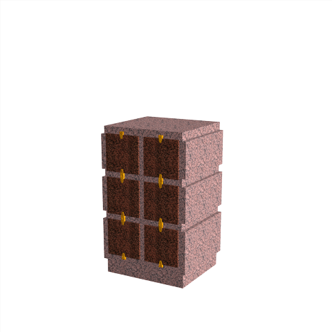 Columbariums - 6 Cases - HARMONIE H06V-80 - Rose de la clarté - Sansone Collectivités