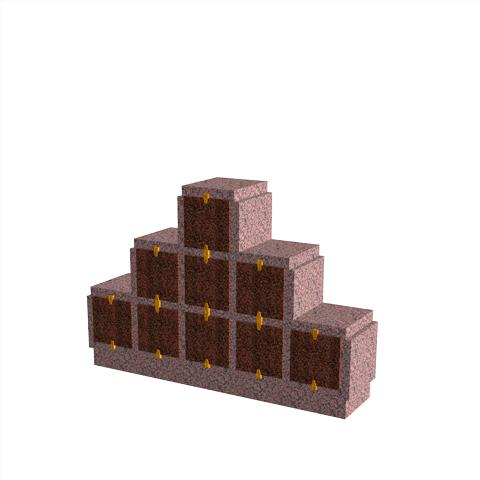 Columbariums - 9 Cases - HARMONIE H09P-50 - Rose de la clarté - Sansone Collectivités