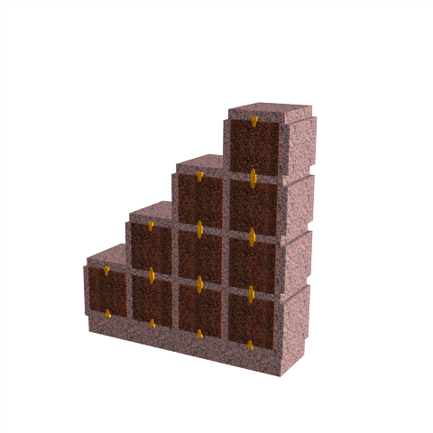 Columbariums - 10 Cases - HARMONIE H10DPD-50 - Rose de la clarté - Sansone Collectivités