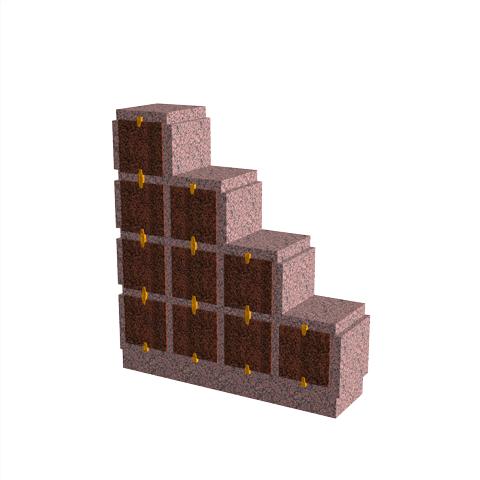Columbariums - 10 Cases - HARMONIE H10DPG-50 - Rose de la clarté - Sansone Collectivités