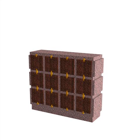 Columbariums - 12 Cases - HARMONIE H12H-50 - Rose de la clarté - Sansone Collectivités