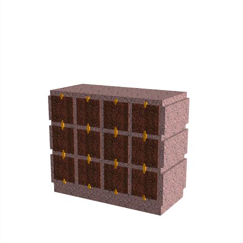 Columbariums - 12 Cases - HARMONIE H12H-80 - Rose de la clarté - Sansone Collectivités