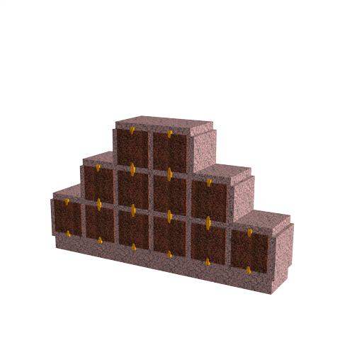 Columbariums - 12 Cases - HARMONIE H12P - Rose de la clarté - Sansone Collectivités