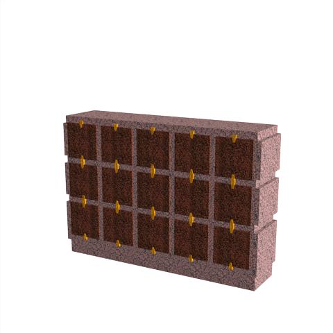 Columbariums - 15 Cases - HARMONIE H15H-50 - Rose de la clarté - Sansone Collectivités