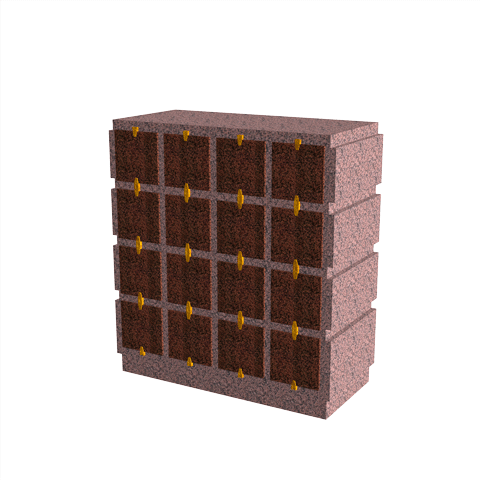 Columbariums - 32 Cases - HARMONIE H16H-80 - Rose de la clarté - Sansone Collectivités