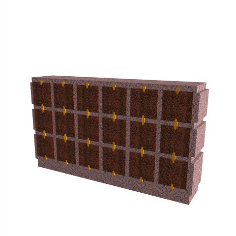 Columbariums - 18 Cases - HARMONIE H18H-50 - Rose de la clarté - Sansone Collectivités
