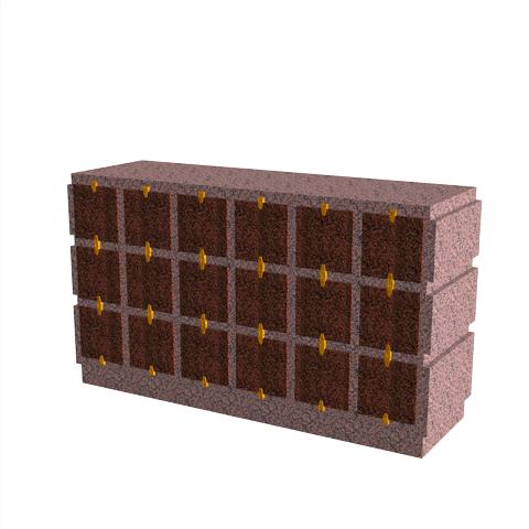 Columbariums - 18 Cases - HARMONIE H18H-80 - Rose de la clarté - Sansone Collectivités