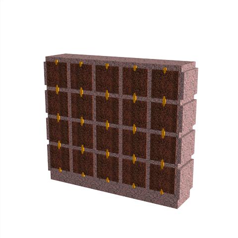 Columbariums - 20 Cases - HARMONIE H20H-50 - Rose de la clarté - Sansone Collectivités