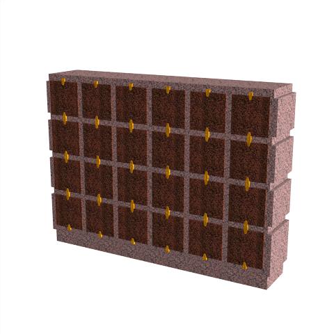 Columbariums - 24 Cases - HARMONIE H24H-50 - Rose de la clarté - Sansone Collectivités
