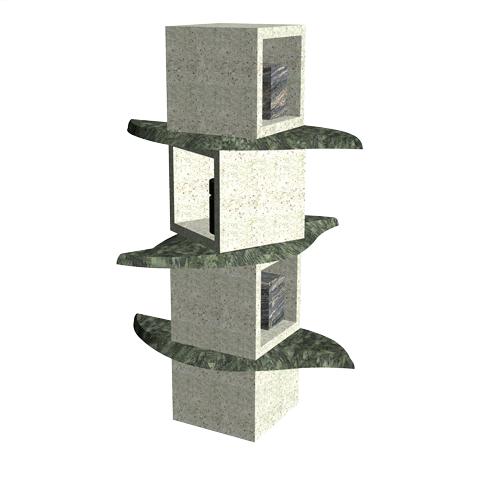 Columbariums - 3 Cases - Krystal KFN3 - Sansone Collectivités
