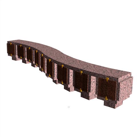 Columbariums - 9 Cases - ARENA A09-50N1 - Rose de la clarté - Sansone Collectivités