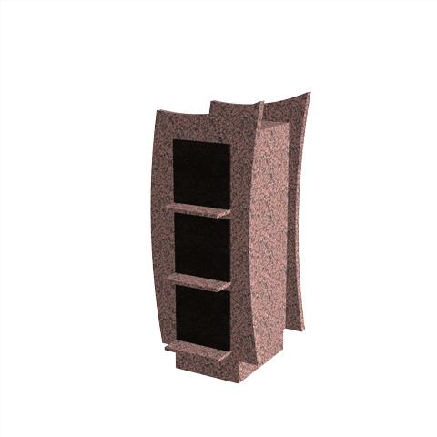 Columbariums - 6 Cases - VALEA - Rose de la clarté/Noir - Sansone Collectivités