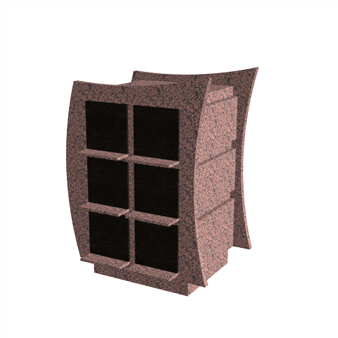 Columbariums - 12 Cases - VALEA - Rose de la clarté/Noir - Sansone Collectivités
