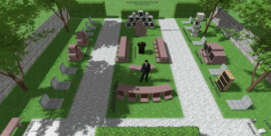 SANSONE Municipalites - Video 3d Columbarium - Jardin du souvenir